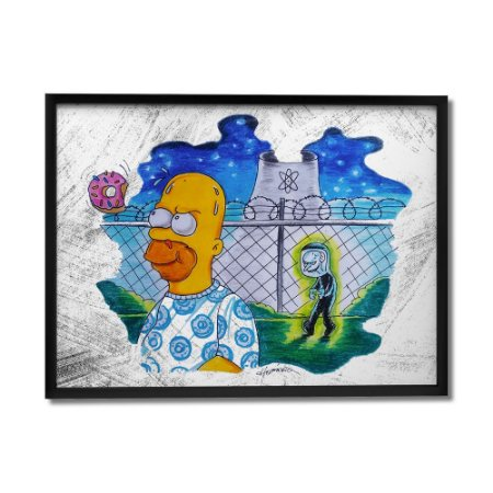 Quadro Decorativo Stranger Simpsons By Homero Ribeiro - Beek
