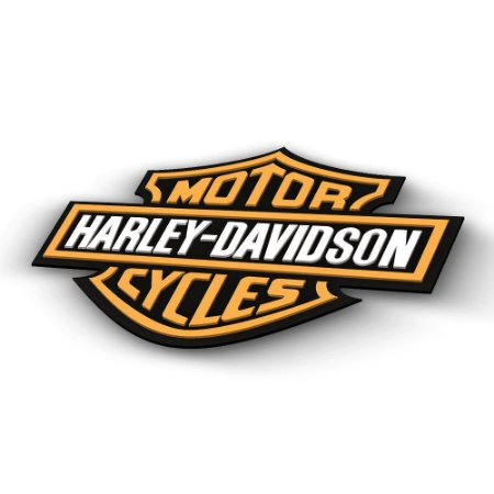 Placa 3D em Acrílico Harley Davidson Logo