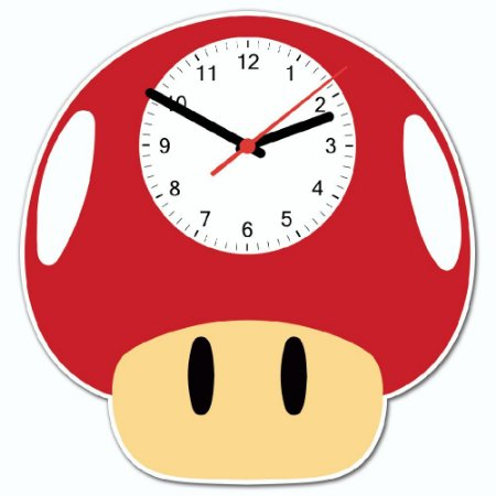 Relógio de Parede - COGUMELO VERMELHO