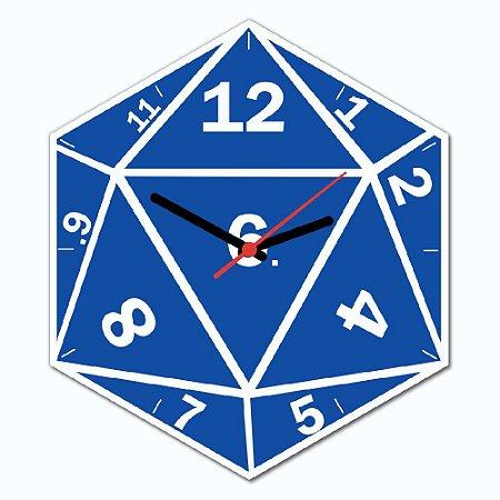 Relógio de Parede - DADO DE RPG D20