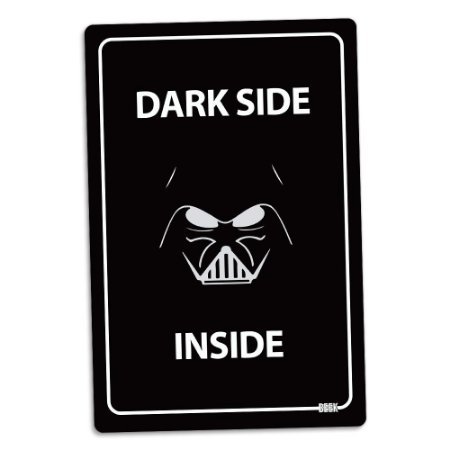 Placa Decorativa 24x16 DARK SIDE INSIDE - Beek