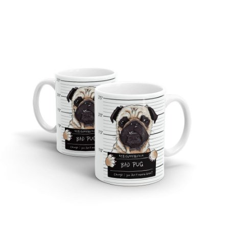Caneca Personalizada Cerâmica Bad Pug - Beek