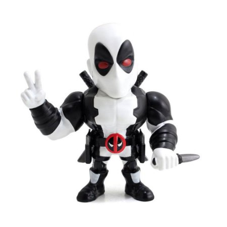 Boneco Metal DIE CAST MARVEL Dead Pool White 4""
