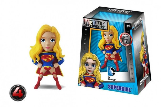 Mini Bonecos Metal DIE CAST DC Super Girl 2,5""