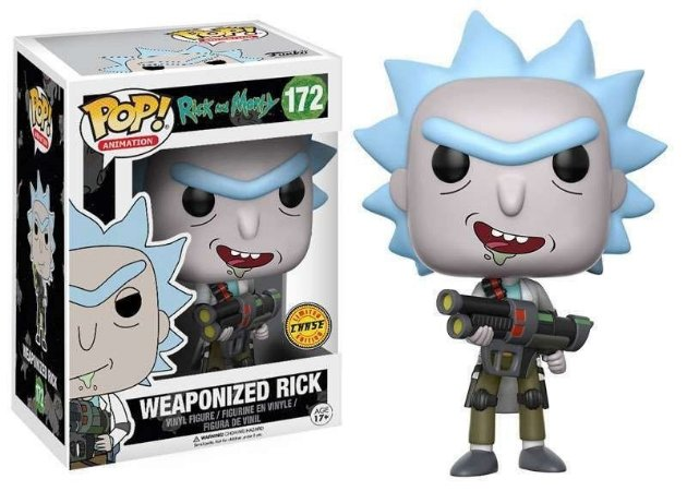 "Estatueta Funko Pop! Animation Rick & Morty - Weaponized ""RARO"""
