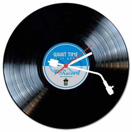 Relógio de Parede - DISCO DE VINIL (azul)