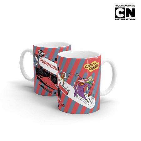 Caneca Cartoon Network POP Vaca e o frango SUPERCOW - Beek