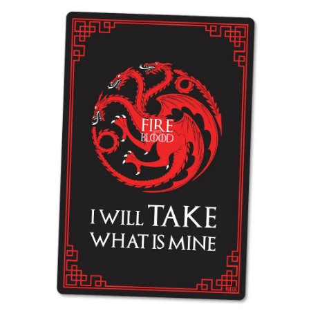 Placa Decorativa 24x16 Fire and Blood - Beek