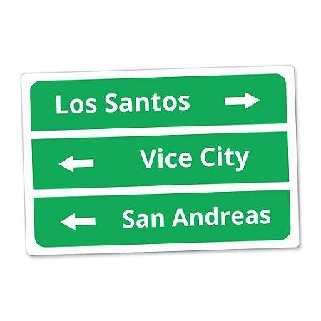 Placa Decorativa 20x30 Los Santos - Beek