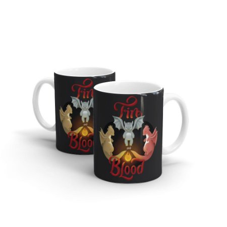 Caneca Cerâmica FIRE AND BLOOD - By Fe Sponchi
