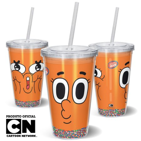 Copo Canudo 600ml Cartoon Network O incrível mundo de Gumball Darwin - Beek