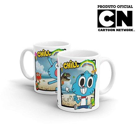 Caneca Cartoon Network O incrível Mundo de Gumball FÉRIAS - Beek