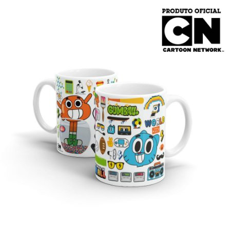 Caneca Cartoon Network GUMBALL - Elementos