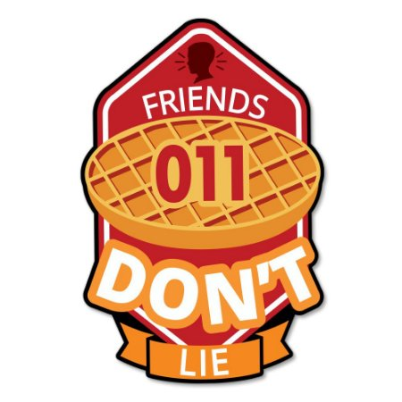 Placa Decorativa 24x16 - FRIENDS DON'T LIE