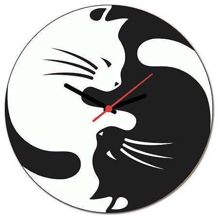 Relógio de Parede Beek GATOS BRANCO E PRETO