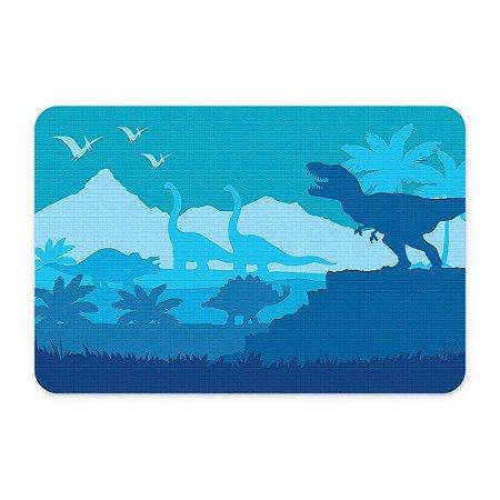 Tapete 60x40 Dinossauros Azul - Beek