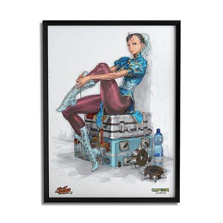 Quadro Decorativo Street Fighter Chun-Li Malas - Beek