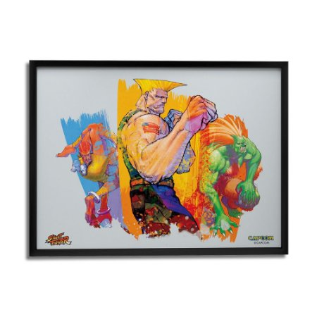 Quadro Decorativo Street Fighter Time Guile - Beek
