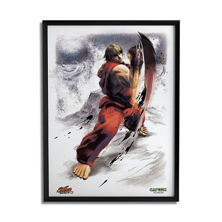 Quadro Decorativo Street Fighter Ken - Beek
