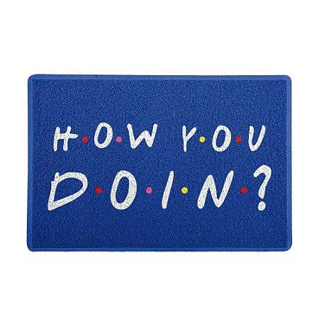 Capacho 60x40cm - HOW YOU DOIN Azul