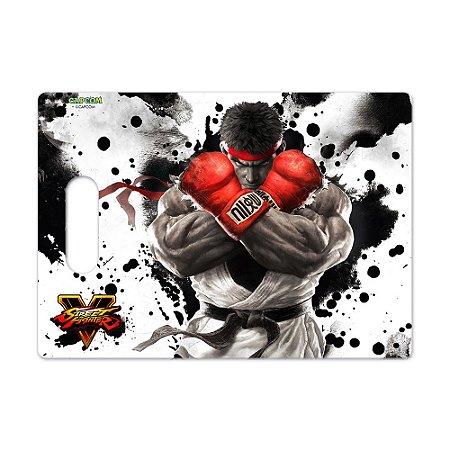 Tábua de Carne de Vidro 35x25cm Street Fighter Ryu Black - Beek