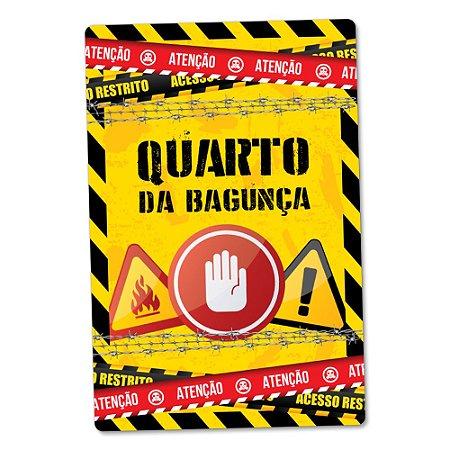 Placa Decorativa 24x16 - QUARTO DA BAGUNÇA