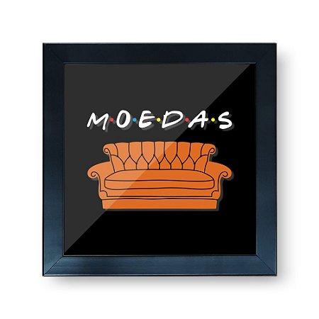 Quadro Cofre 3D 20x20 - MOEDAS AMIGOS