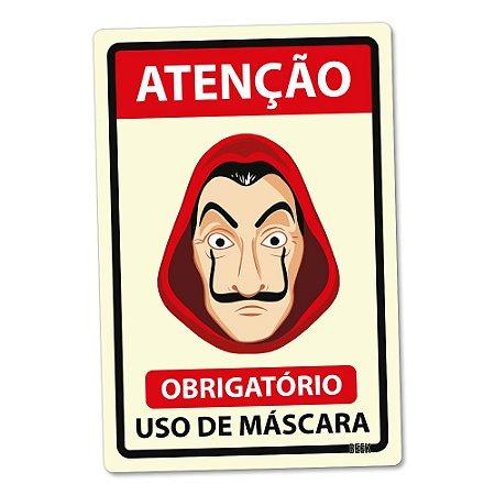 Placa Decorativa 24x16 Use Máscara - LÁ MASCARA