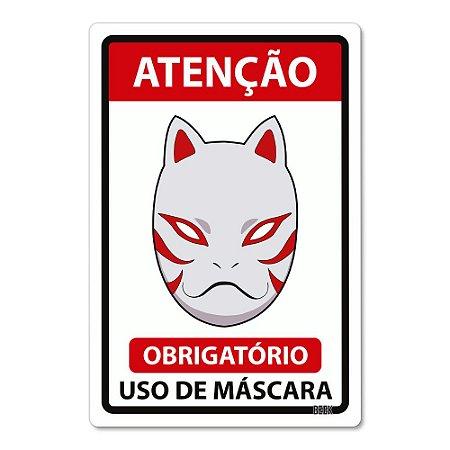 Placa Decorativa 24x16 Use Máscara - ANBU