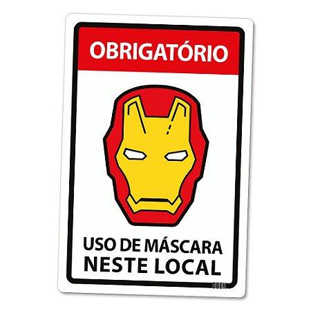 Placa Decorativa 24x16 Use Máscara - ARMADURA