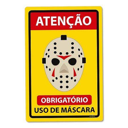 Placa Decorativa 24x16 Use Máscara Assassino - Beek