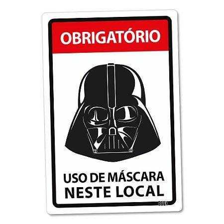Placa Decorativa 24x16 Use Máscara - LORDE NEGRO