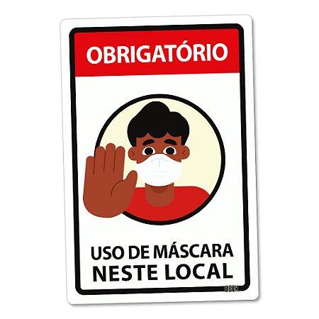 Placa Decorativa 24x16 Use Máscara - RAPAZ