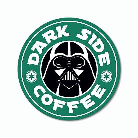 Placa Decorativa 20x20 - DARK SIDE COFFEE (redonda)