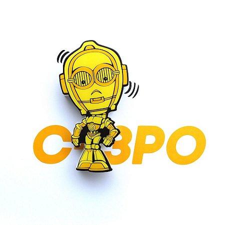 Mini Luminária 3D Light FX Star Wars C-3PO