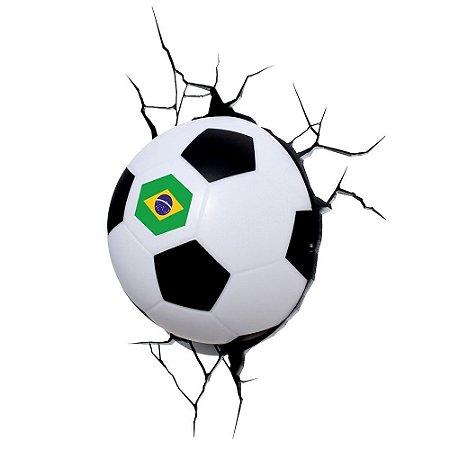 Luminária 3D Light FX Bola de Futebol Edição Especial BRASIL
