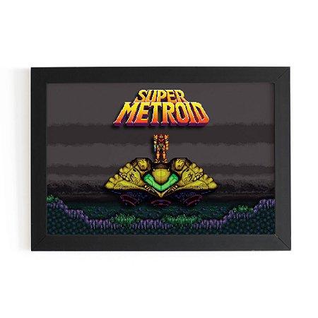 Quadro 3D 30x20 - Super Metroid