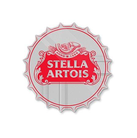 Espelho Decorativo feito em Acrílico Espelhado (35x35cm) - Tampinha Stella Artois