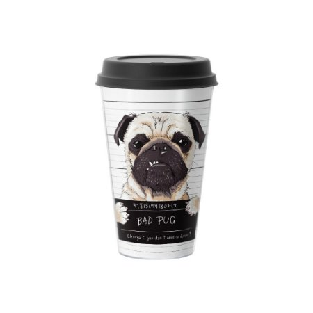 Copo Café 500ml - BAD PUG