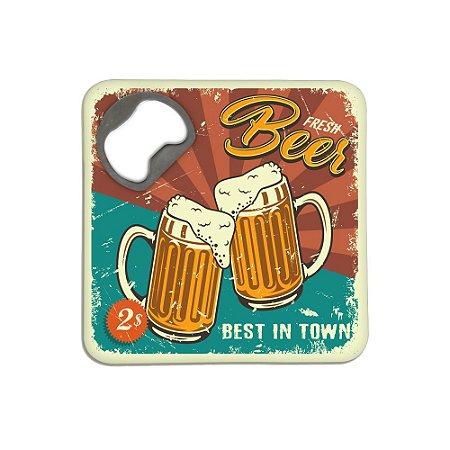 Porta Copos c/ Abridor - Fresh Beer Retrô