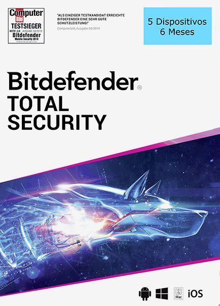 BITDEFENDER TOTAL SECURITY 2020 Original 5 Dispositivos 6 Meses