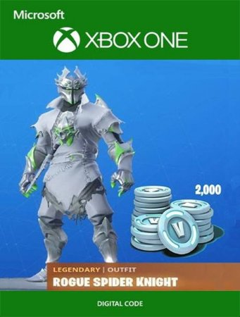 Fortnite Rogue Spider Knight Bundle 2000 V-Bucks Xbox One Digital Original - Codigo 25 Digitos