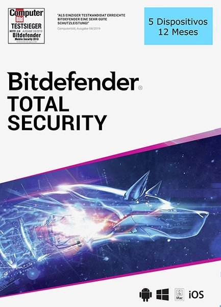 BITDEFENDER TOTAL SECURITY 2020 Original 5 Dispositivos 12 Meses