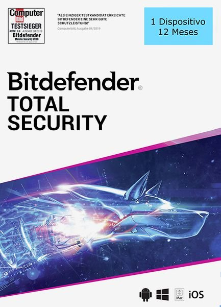BITDEFENDER TOTAL SECURITY 2020 Original 1 Dispositivo 12 Meses