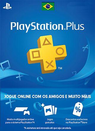 Card Psn Plus + Brasil Cartão Assinatura Playstation