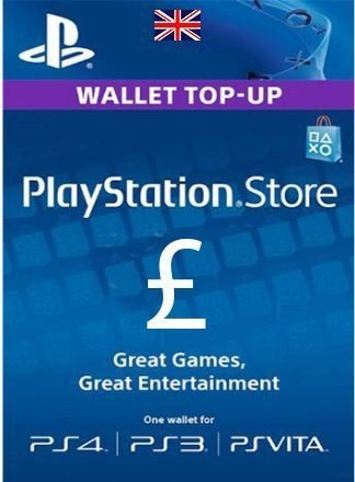 Card Psn UK GBP Libras Cartão Playstation Ps3 Ps4 Vita
