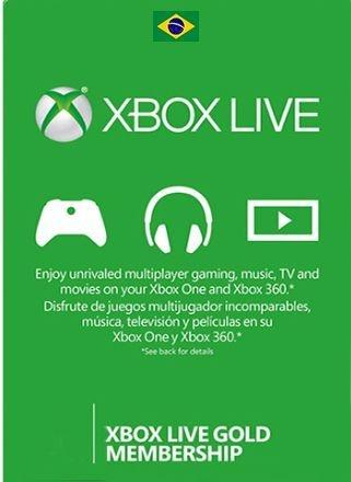 Cartão Xbox Live Gold Brasil Card Assinatura