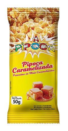 Pipoca Caramelizada - Caixa com 28 unidades -  50g cada