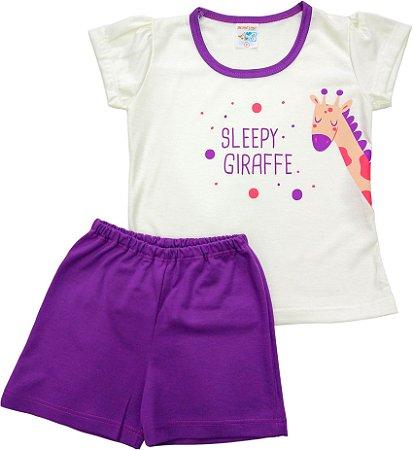 Conjunto Pijama Fio 30 Sleepy Girafff