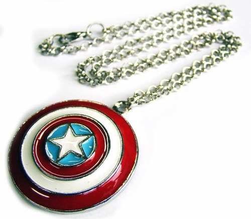 Colar Escudo Capitão América Vingadores